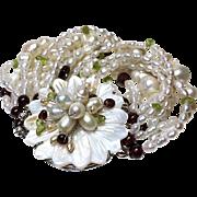 Multistrand Freshwater Cultured Pearl Bracelet