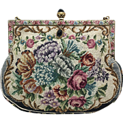 Austrian Petit-Point Wrist Handbag