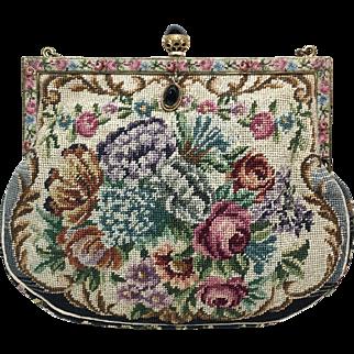 Austrian Petit-Point Wrist Handbag