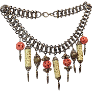Egyptian Revival Bib Necklace