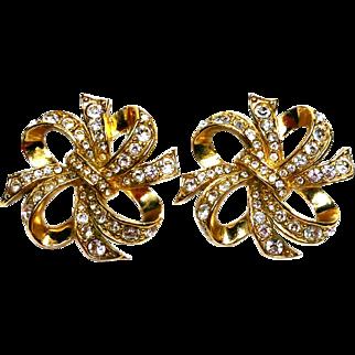 KJL Golden Ribbon Earrings