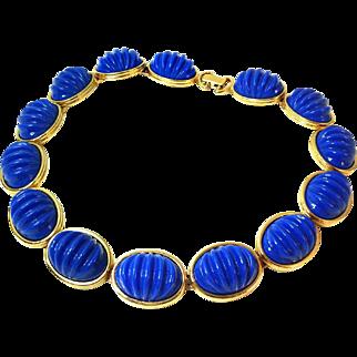Monet Blue Ridged Necklace