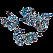 Marvella Layered Earrings & Brooch