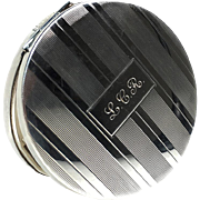 Engraved Sterling Silver Compact
