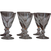 Antique French Iconic Handblown Bistro Glasses, from the 19th Century, Mazagran