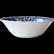 Vintage Wedgwood Blue and White Floral Porcelain Serving Bowl, Salad Bowl - Avon Cottage