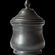 Vintage French Pewter Bonbonniere, Kitchen Pot, or Tea Caddy