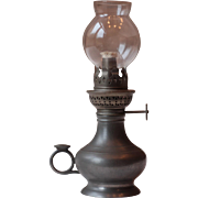 Vintage French Pewter Oil Lamp