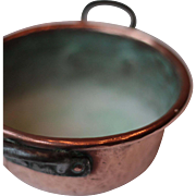 Small Vintage French Copper Basin