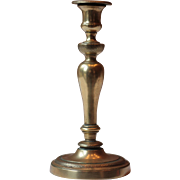 "10"" French Brass Candlestick Holder"