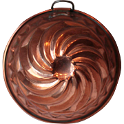 Small Vintage French Copper Cake Mold, Copper Cake Tin