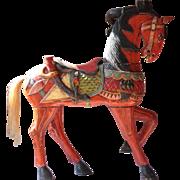 Vintage Large & Colorful Wooden Horse