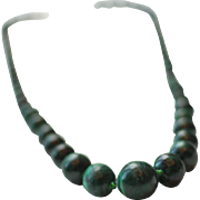 Vintage African Malachite Necklace