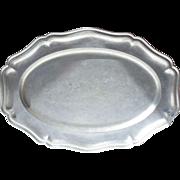 Large Oval French Vintage Pewter Platter