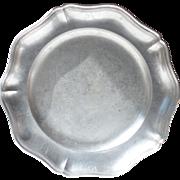 Large Circular French Vintage Pewter Platter