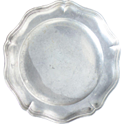 Small Circular French Vintage Pewter Platter - 450g