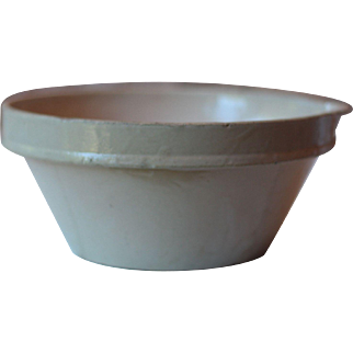 Gorgeous Small Antique French Tian Bowl, Cream Making Bowl, Antique Rustic Confit Bowl