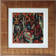 Contemporary Scottish Oil Painting, Dancing Horses