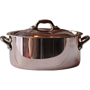 Oval French Vintage Copper Cocotte