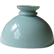 Vintage French Duck Egg Blue Opaline Lampshade, Glass Lampshade, Blue Glass