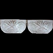 Pair of Vintage Baccarat Crystal Bowls
