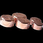 Set of Five Tinned 1mm Copper Pans, Les Cuivres de Faucogney