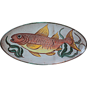"""21"""" Mid Century French Pottery Fish Platter, Vallauris"""