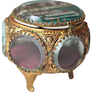 French Antique Jewelry Box, or Ring Box, in Ormolu