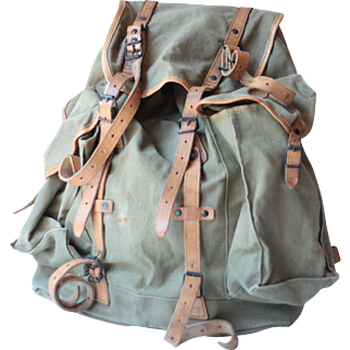French Army Canvas Backpack, Military Backpack
