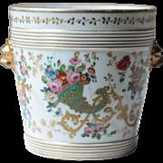 Antique French Porcelaine de Paris Champagne Bucket