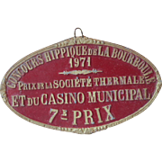 Vintage French Gold & Red Concours Hippique Award