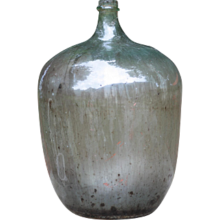 """Gnarly 27"""" Antique French Demi-John, or Carboy"""