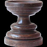 Antique French Oak Church Pillar Candlestick