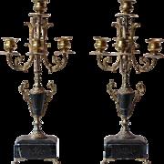 Pair of Napoleon III Ormolu Candlesticks