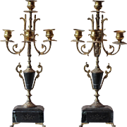 Pair of Napoleon III Ormolu Candlesticks