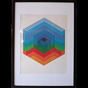Retro Hexagon, Victor Vasarely Artist's Proof