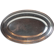 Vintage French Ercuis Oval Silver Serving Platter
