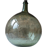 Beautiful, Clean, Small, Antique French Demi-John, or Carboy, in Green