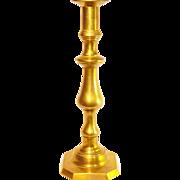 Vintage Tall Brass Candlestick