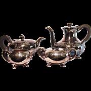 4 Piece Meriden Silverplate Teapot Coffee Pot Service