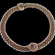Antique 14k Yellow Gold Enamel Bracelet