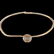 Mikimoto 18k Yellow Gold Diamond Necklace
