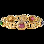18K Yellow Gold Multistone Bracelet