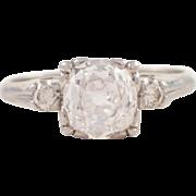 Platinum Diamond Retro Engagement Ring