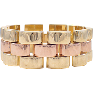 14K Yellow and Rose Gold Retro Bracelet