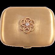 14K Yellow Gold Diamond Box