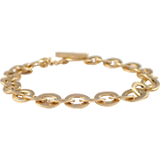 14k Yellow Gold Toggle Bracelet