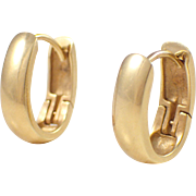 14k Yellow Gold Huggy Earrings