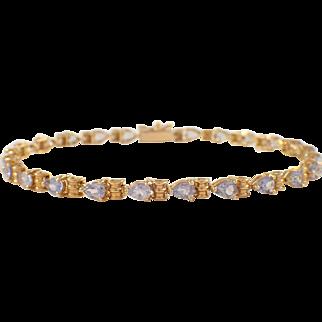 14k Yellow Gold Tanzanite Bracelet