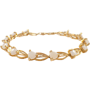 14k Yellow Opal Bracelet